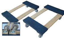 """Heavy Duty Carpeted Moving Furniture BLUE Dolly 18"""" x 30"""" -3"""" or 4"""" casters"""
