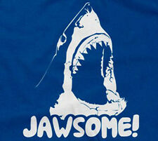 JAWSOME T-SHIRT shark jawesome funny sarcastic saying awesome mens guys sharks