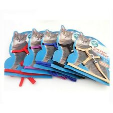 Adjustable Pet Cat Kitten rabbit ANIMAL dog Harness Collar WALKING Lead Leash