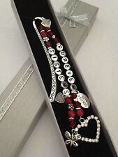 PERSONALISED FOREVER SISTERS/FRIENDS GIFT GLASS BEADED BOOKMARK ANY WORDING