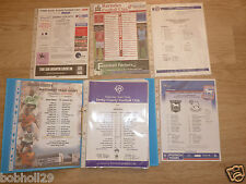 Derby County  Home & Away Teamsheets 1997/98 to 2006/07  Select from menu