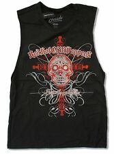 """RED HOT CHILI PEPPERS """"DAY OF THE DEAD"""" GIRLS JUNIORS GREY TANK TOP SHIRT NE"""