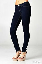 PLUS Sz Skinny Fabric Jeans Big Women Jeggings Stretch Denim Navy Slim Pants