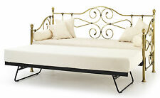 Florence Brass Victorian 3ft 90cm Single metal Day Bed + Trundle or with a Matts