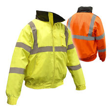 Radians, High Visibility Quilted Bomber Jacket, Class 3, Hi-Viz, SJ11Q, FREESHIP