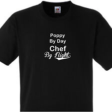 POPPY BY DAY CHEF BY NIGHT T SHIRT PERSONALISED COOKS TEE