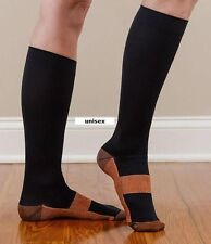 Copper Compression Socks L/XL Black As Seeon on TV