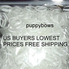 Puppy Bows ~Dog grooming latex free clear elastic rubber topknot bands~US SELLER