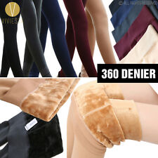 FLEECE LINED CONTROL TOP SHAPING TIGHTS 360D Women's Opaque Warm Thick Pantyhose