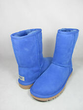 NEW WOMEN BOOT UGG AUSTRALIA W CLASSIC SHORT SMOOTH BLUE STHB 5825 ORIGINAL