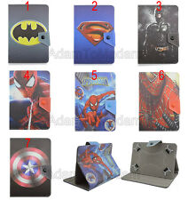 "Folio Fold Super Hero Series Cute Cartoon Leather Case Cover For 9""-10.5"" Tablet"