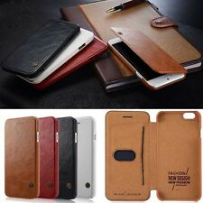 Luxury PU Leather Flip Cover Card Wallet Case For Apple iPhone 6 4.7 / 6 Plus