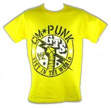 CM Punk GTS Best In The World WWE Mens Yellow T-shirt
