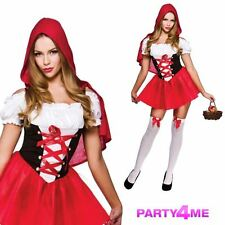 LADIES LITTLE RED RIDING HOOD SEXY STORYBOOK FANCY DRESS COSTUME
