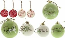 3 Pack Deluxe Festive Glazed Large Christmas Tree Bauble Baubles, HALF PRICE
