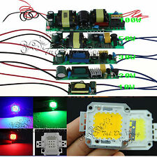 10W 20W 30W 50W 100W High Power LED Driver Supply White RGB LED Chip Light Bulb