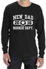 New Dad 2016 Rookie Dept. Long Sleeve T-Shirt New Born Baby Father's Day Gift