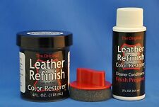 Leather Refinish- An Aid to Sofa, Automotive Color Restorer- Kit w/ Cleaner, App