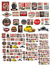 Vintage Garage Signs Decals #1 1:18 1:24 1:43 1:64 G Scale Ho Scale Dioramas