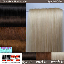 Silky 100% Real Clip In Remy Human Hair Extensions Full Head Free Shipping E631