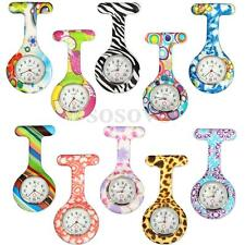 Hot Style Nurse Silicone Stainless Dial Quartz Fob Tunic Analog Pocket Watch New
