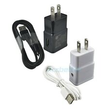 Wall Home AC Adapter + USB Charger Cable for Samsung Galaxy S4 S3 Mini Note 4 2