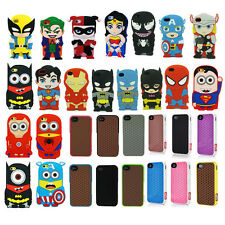 3D Cartoon Superhero Soft Silicone Rubber Case Cover For iPhone 4G 5S 5C 6 Plus