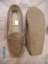 Mens soft sole sheepskin moccasin slipper, selling for over 30 years, wool lined