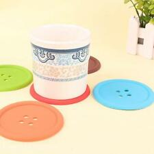 1PC Silicone Button Shape Office Home Kitchen Bar Cup Pad Mat Cushion Coaster