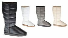 New Womens Comfort Suede Synthetic Mid Calf Fashion Winter Warm Snow Boots Shoes