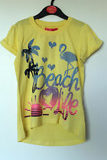BNWT Girls Yellow Printed T-Shirt Top Age 3-4, 4-5, 5-6, 7-8 Years *FREE P&P*