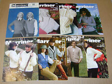 MULTI-LIST SELECTION OF VINTAGE MARRINER KNITTING PATTERNS MENS / WOMANS / BABY