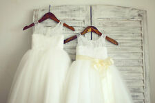 Bridal New Fashion Formal Lace Baby Girl Princess Cheap Party Flower Girl Dress