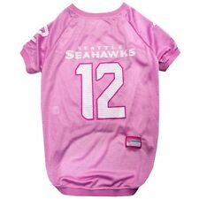 Seattle Seahawks PINK 12th Man NFL Dog Pet  Mesh Jersey Shirt sizes