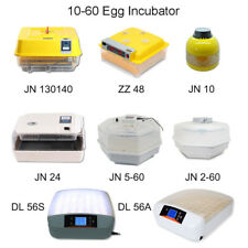 10,24,42,48,60 AUTOMATIC CHICKEN EGG INCUBATOR POULTRY HATCHER INCUBATORS+CANDLE