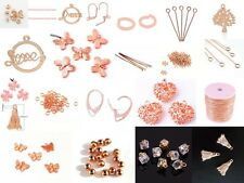 Selection of Rose Gold Jewellery Making Spacer Beads Charms Findings- lady-muck1