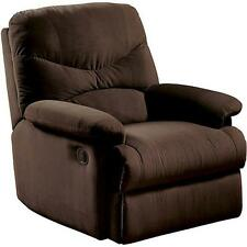 Oakwood Microfiber Recliner Chair Furniture Brown Reclining Home Living Room NEW