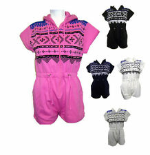 AZTEC PRINT ONESIE SHORT PLAYSUIT CAP SLEEVE ALL-IN-ONE SOFT HAND 2 SIDE PRINT