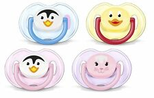 Avent - 0-6 Month Soothers/Dummies - Classic Animals - Choose Colour