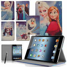 Frozen Faux Leather Stand Case Cover For Kids  iPad Mini & iPad Mini II Tablets
