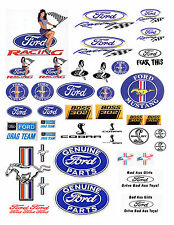 1:18 FORD LARGE DECALS FOR DIECAST & MODEL CARS DISPLAYS OR DIORAMAS FORD