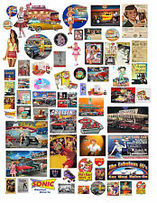 1: 24 1:18 CAR HOP DRIVE-IN DECALS FOR DIECAST & MODEL CARS & DIORAMAS