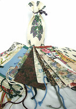 Wine Bottle Gift Bag Fabric Holder W/ Ties Choose A Print Homemade In The USA