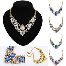 Fashion Women Jewelry Retro Necklace Chain Chunky Statement Bib Pendant Choker