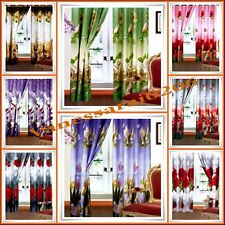 3D PHOTO PRINT PAIR OF CURTAINS READY MADE EYELET RING TOP LOVELY DESIGN