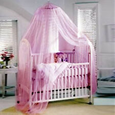 White / Pink Baby Kids Canopy / Mosquito Net Open Mouth Mosquito Net  New