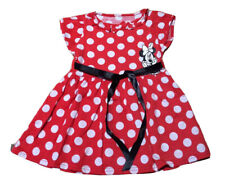 NWT Girls Minnie Mouse Red White  Polka Dot S/S Vacation Dress Size 3T-6