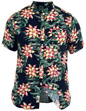 New Mens Duke D555 Big King Size Hawaiian Shirt Aloha Floral Print Short Sleeve