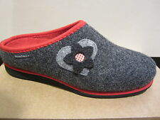 Frankenwald Womens Slipper with Wool felt, grey/red, for loose Insoles NEW!!