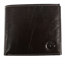 Timberland Mens Bifold Wallet with Coin Pocket Brown Leather (D3246 214 UW)